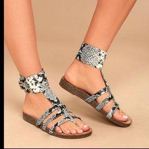 """Katie"" Snake Print Sandals"